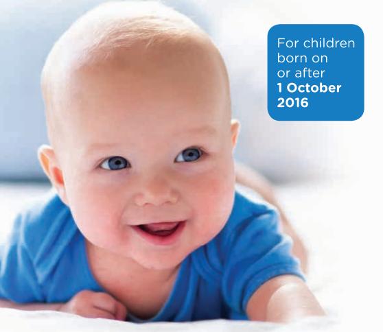 New Primary Immunisation Schedule commenced October 2016